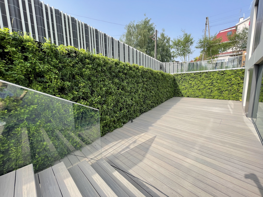 lush green living evergreen wall in poland